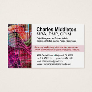 Cyber Tech-1 Business Card template (white/red)
