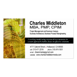 Cyber Tech-1 Business Card template (white/yellow)