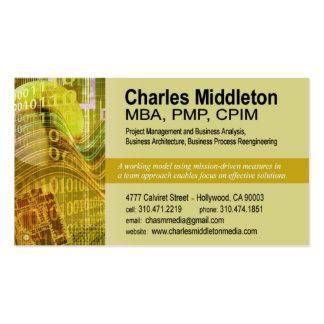 Cyber Tech-1 Business Card template yellow