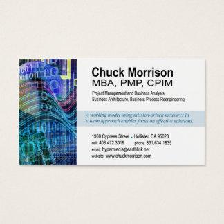 Cyber Tech-1 Business Card (white/blue)