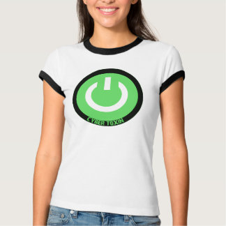 Cyber Toxin Green logo ringer Tshirt