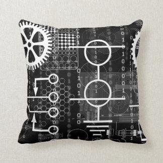 Cyberpunk Tech Geek Gear Electronic Engineer Math Cushion