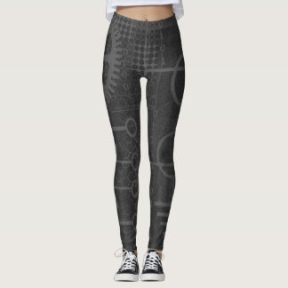 Cyberpunk Tech Geek Gear Electronic Engineer Math Leggings