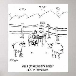 Cyberspace Cartoon 6736 Poster