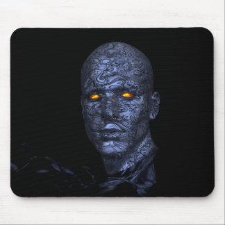 cyborg-438398 cyborg robot head futuristic compute mouse pad