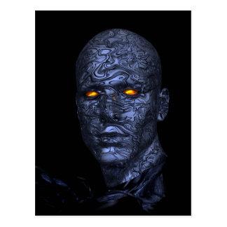 cyborg-438398 cyborg robot head futuristic compute postcard