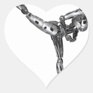 Cyborg Ballet in Arabesque Heart Sticker