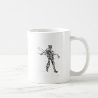 cyborg blck and white sharpened mugs