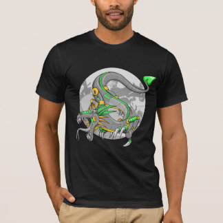 Cyborg Mech Robot Green Dragon  T-Shirt