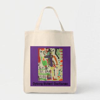 Cyborg Mutant Gentleman Grocery Tote Bag