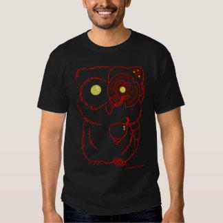 Cyborg Owl - Red T-shirts