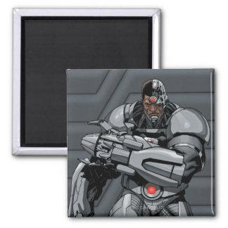 Cyborg Square Magnet