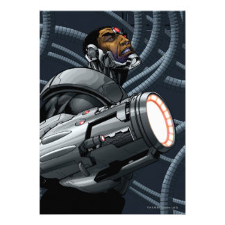Cyborg Weapon Bust Personalized Invite