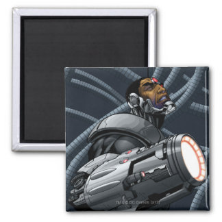Cyborg & Weapon Bust Magnet