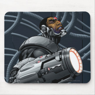 Cyborg & Weapon Bust Mouse Mat