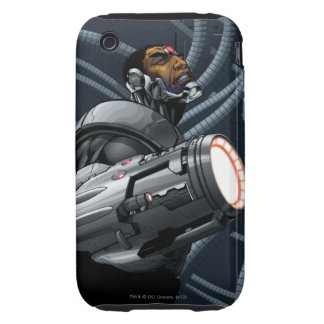 Cyborg & Weapon Bust Tough iPhone 3 Covers