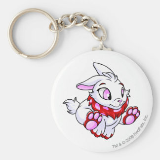 Cybunny Red Basic Round Button Key Ring