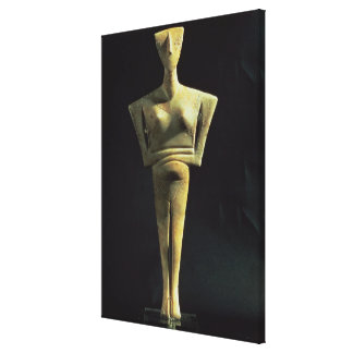 Cycladic female figure, from the Island of Amorgo, Gallery Wrap Canvas