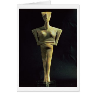 Cycladic female figure, from the Island of Amorgo, Greeting Card