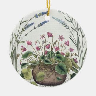 Cyclamen and Lavender: 1.Cyclamen Romanum; 2.Spica Christmas Ornament