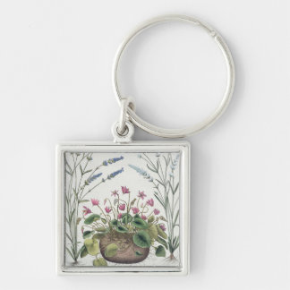 Cyclamen and Lavender: 1.Cyclamen Romanum; 2.Spica Key Ring