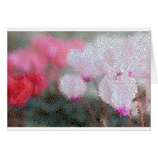 Cyclamen Flowers Mosaic Card