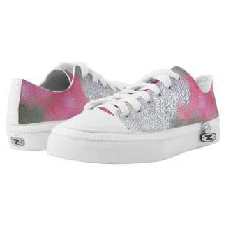 Cyclamen Flowers Mosaic Printed Shoes