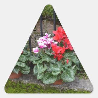 Cyclamen Triangle Stickers