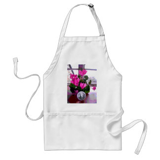 Cyclamen with Crystal Standard Apron