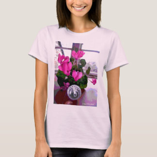 Cyclamen with Crystal T-Shirt