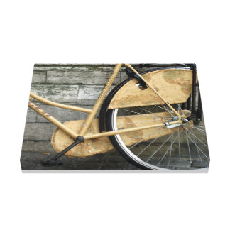 Cycle around the world canvas