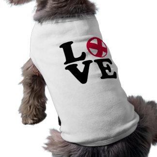 Cycle ball love sleeveless dog shirt