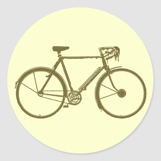 cycle: bike-image: cycling classic round sticker