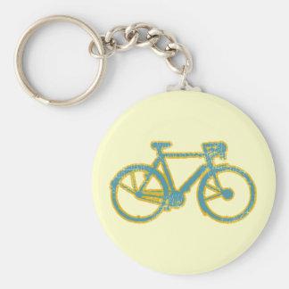 cycle - biking - cycling basic round button key ring