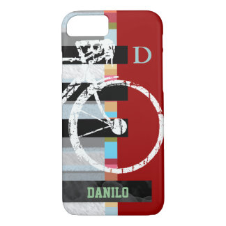 cycle/cycling , stripes and name iPhone 8/7 case