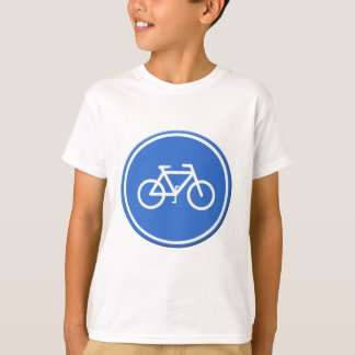 Cycle lane road sign UK T-Shirt