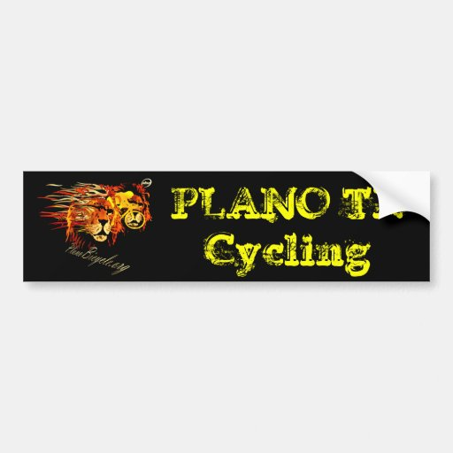 Cycle like a lion on Fire Plano Texas Cycling Bumper Stickers