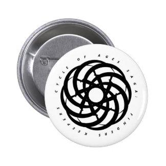 Cycle of Ages Saga: Black Logo on White Button
