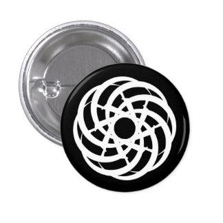 Cycle of Ages Saga:  White Logo on Black Button