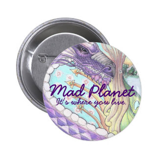 Cycle of Life Dragon Drawing 6 Cm Round Badge