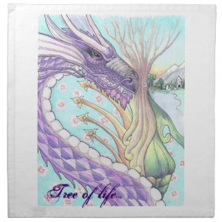 Cycle of Life Dragon Drawing Napkin