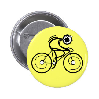 CYCLE ON! Racer 6 Cm Round Badge