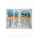 Cycle race postcard