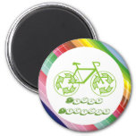 Cycle Recycle Refrigerator Magnet
