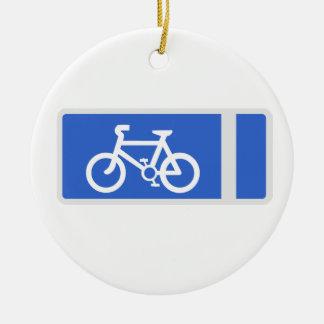 Cycle Symbol Round Ceramic Decoration