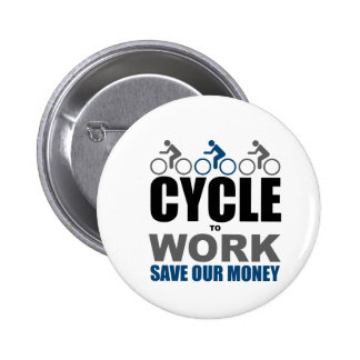 Cycle To Work 6 Cm Round Badge