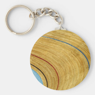 Cycle track abstract basic round button key ring