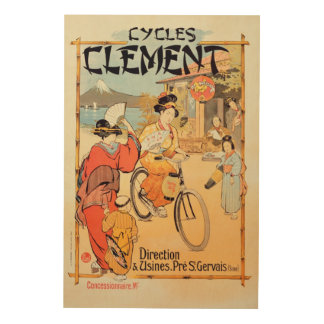 Cycles Clement Pre Saint-Gervais Wood Wall Decor