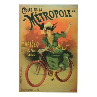 'Cycles de La Metropole', Marie & Co. (colour lith Wood Print