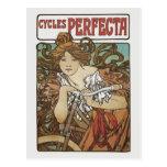 Cycles Perfecta, Alphonse Mucha Art Nouveau